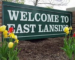 To Live in East Lansing Sign