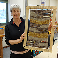 Weaving at Prime Time Seniors' Program