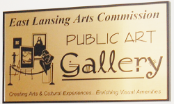 Public Art Gallery Sign